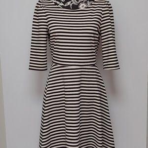 NWT Pixley White and Black Striped Dress